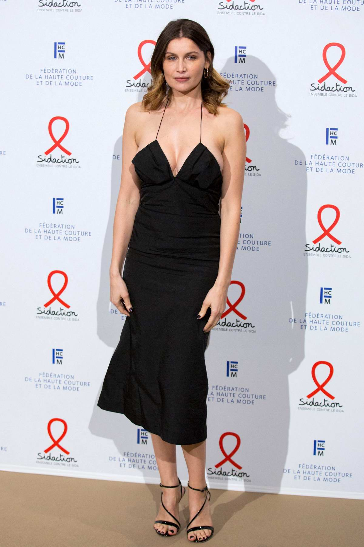 Laetitia Casta attends the 18th Fashion Dinner For AIDS Sidaction Association in Paris, France
