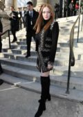 Larsen Thompson attends the Ellie Saab Fashion Show during Paris Fashion Week in Paris, France