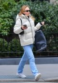 Lily-Rose Depp looks cozy in a puffy jacket and jeans as she steps out for some shopping in New York City