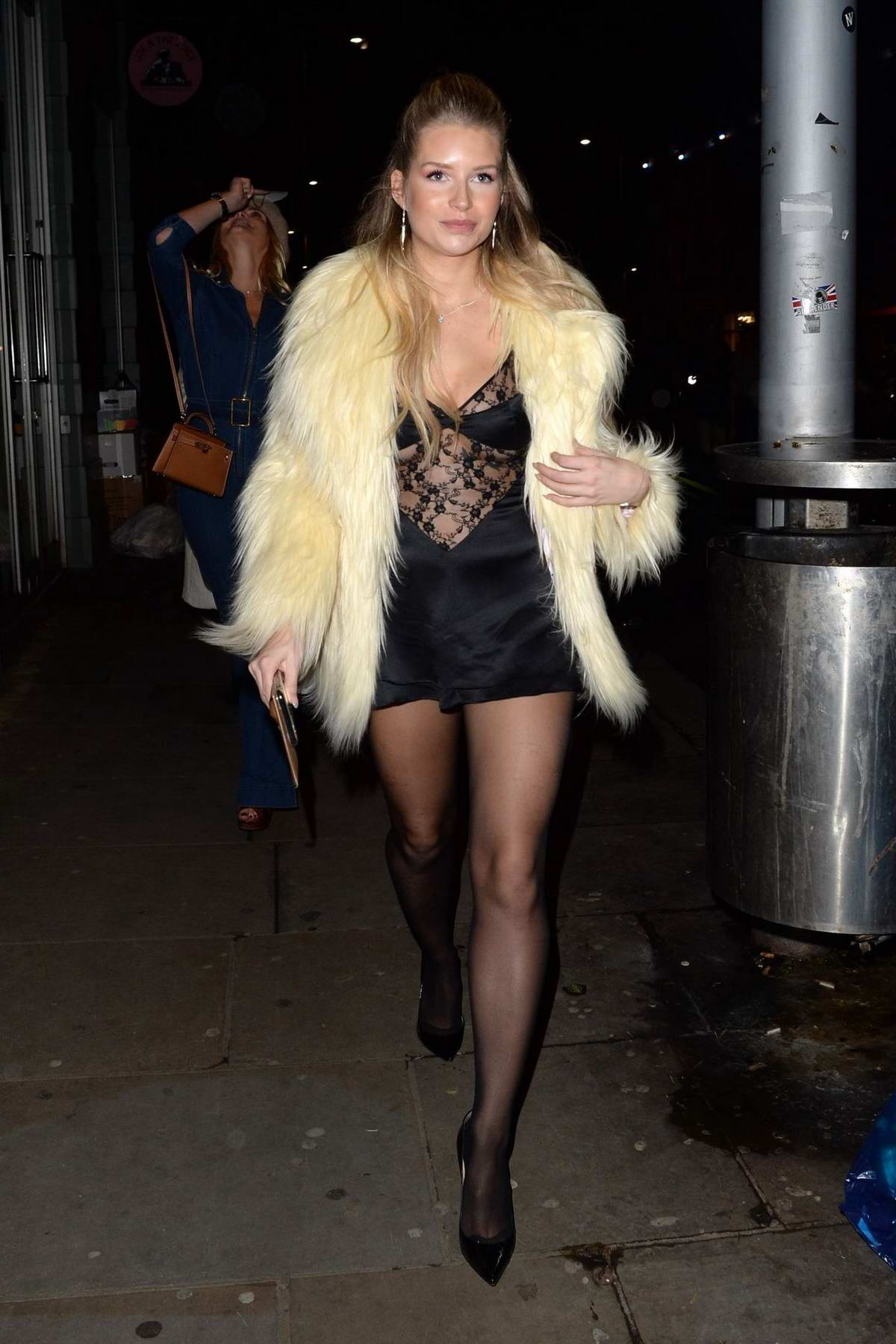 Lottie Moss celebrates her 22nd Birthday with friends at Bluebird restaurant in London, UK