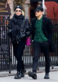 Lucy Boynton and Rami Malek are all smiles while out shopping in SoHo, New York City