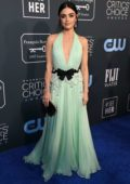 Lucy Hale attends the 25th Annual Critics' Choice Awards at Barker Hangar in Santa Monica, California