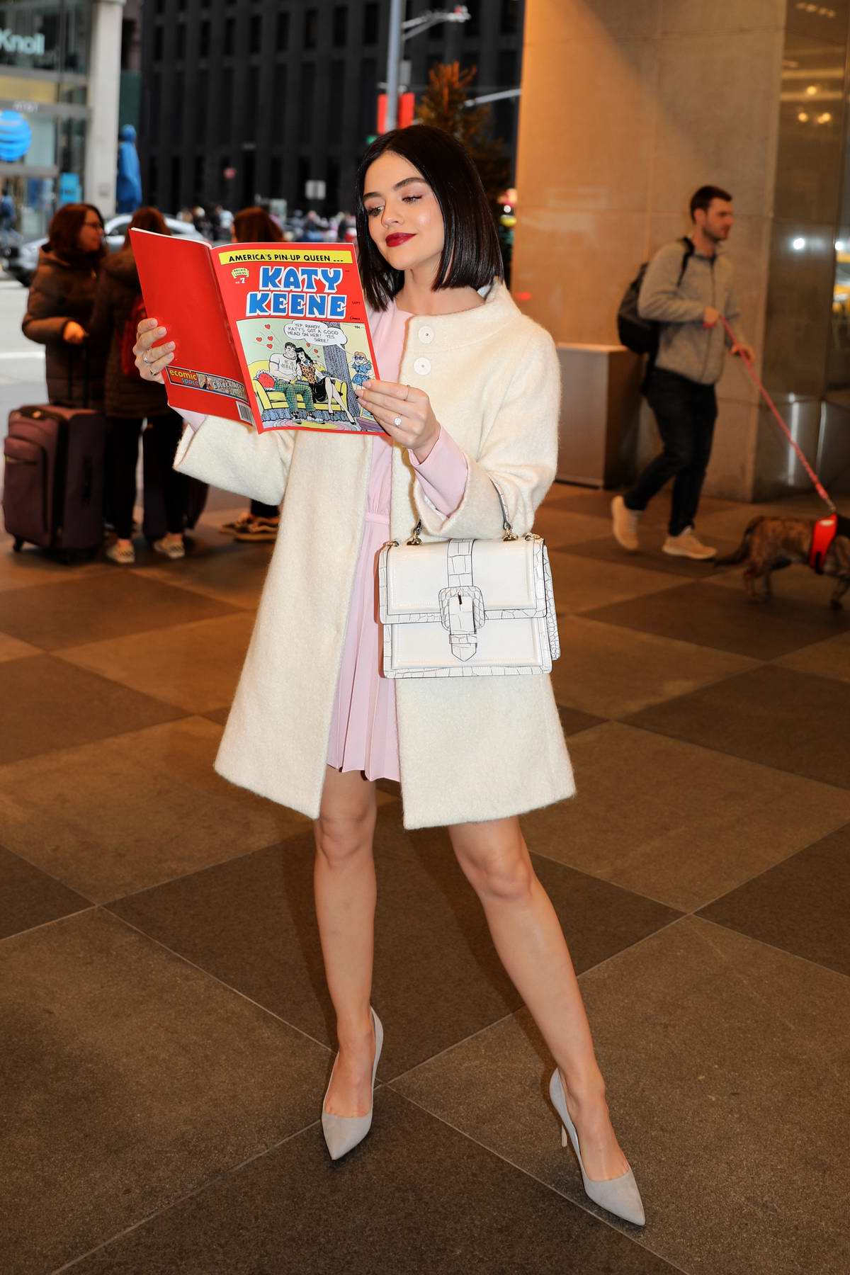 Lucy Hale seen during the BroadwayCon event at The Hilton Hotel in New York City