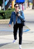 Lucy Hale steps out for coffee with male friend at Alfred Coffee in Studio City, California