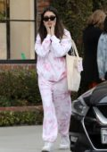 Madison Beer looks pretty in pink while out shopping at Glossier in West Hollywood, California