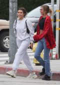 Madison Beer steps out for a stroll with her friends in West Hollywood, California