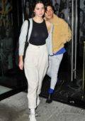 Maia Mitchell and Rudy Mancuso enjoy dinner with friends at Catch LA in West Hollywood, California