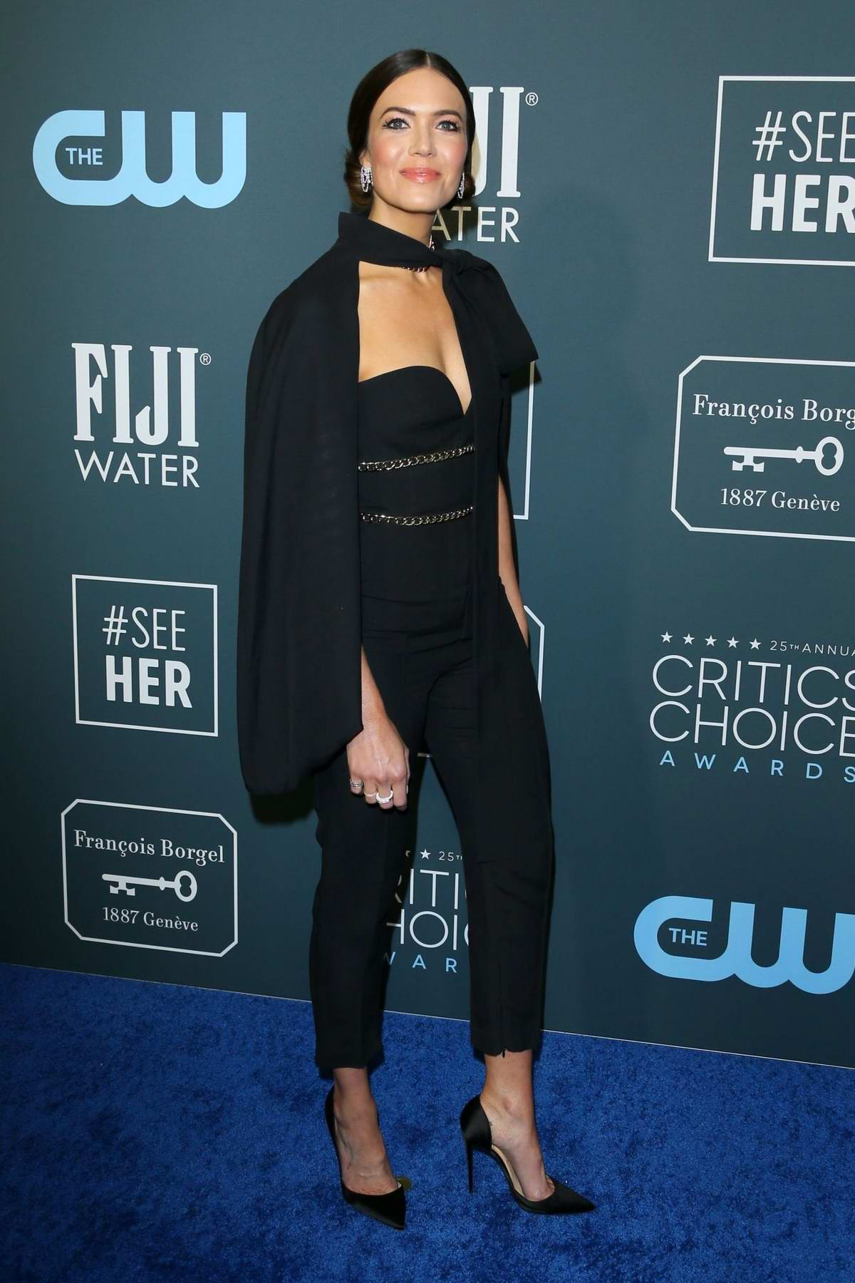 Mandy Moore attends the 25th Annual Critics' Choice Awards at Barker Hangar in Santa Monica, California