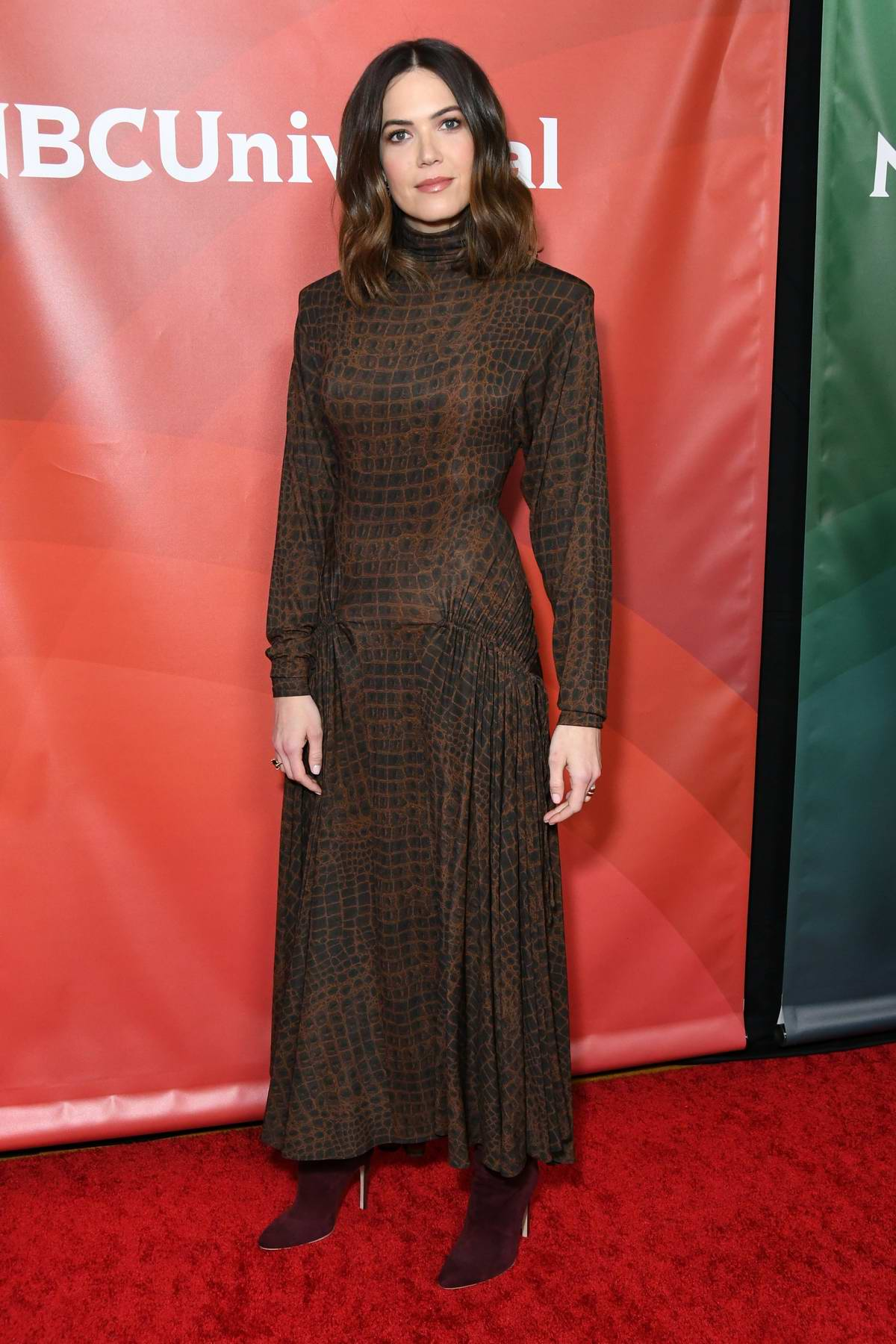 Mandy Moore attends the NBC Universal TCA Winter Press Tour 2020 at The Langham in Pasadena, California