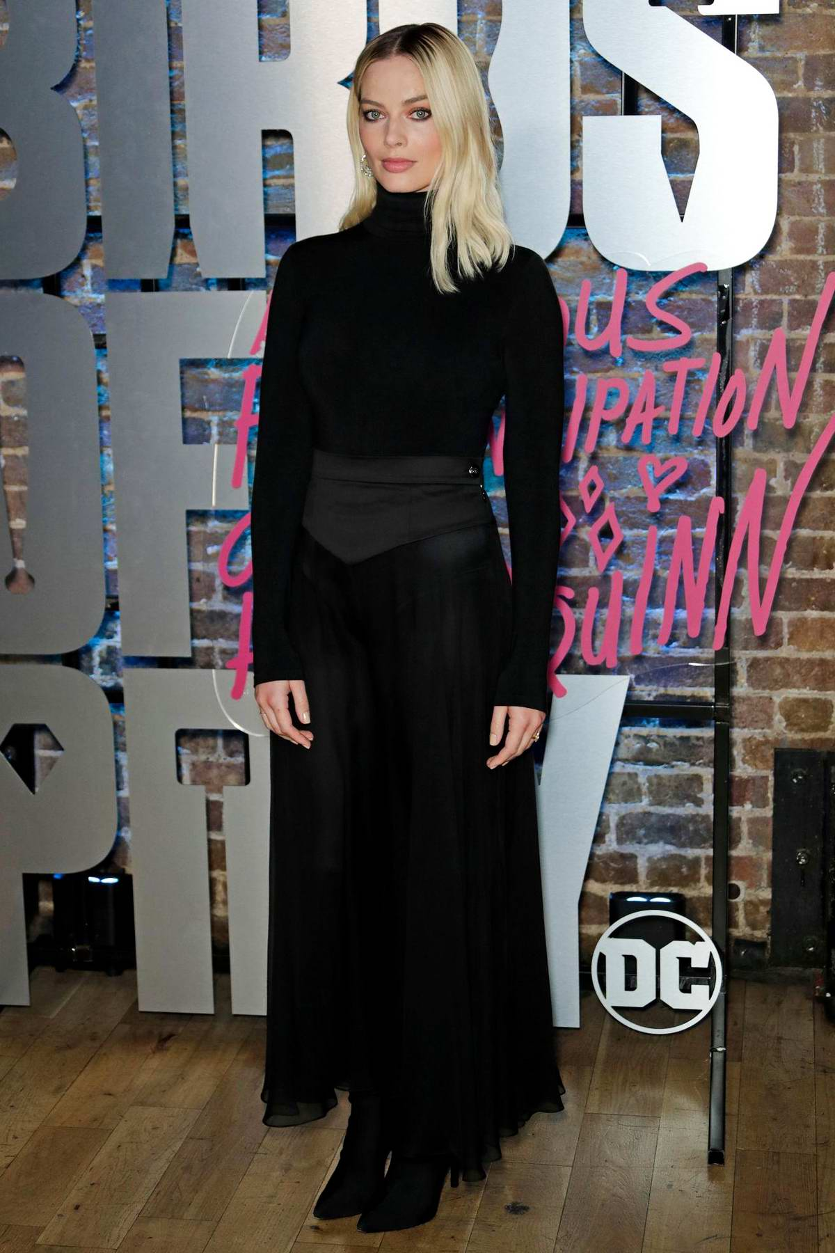 Margot Robbie attends Harley Quinn's Pop Up Roller Disco in London, UK