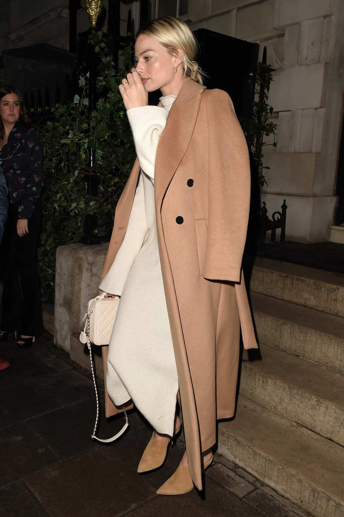 Margot Robbie seen leaving Annabel's Member's Club in Mayfair, London, UK