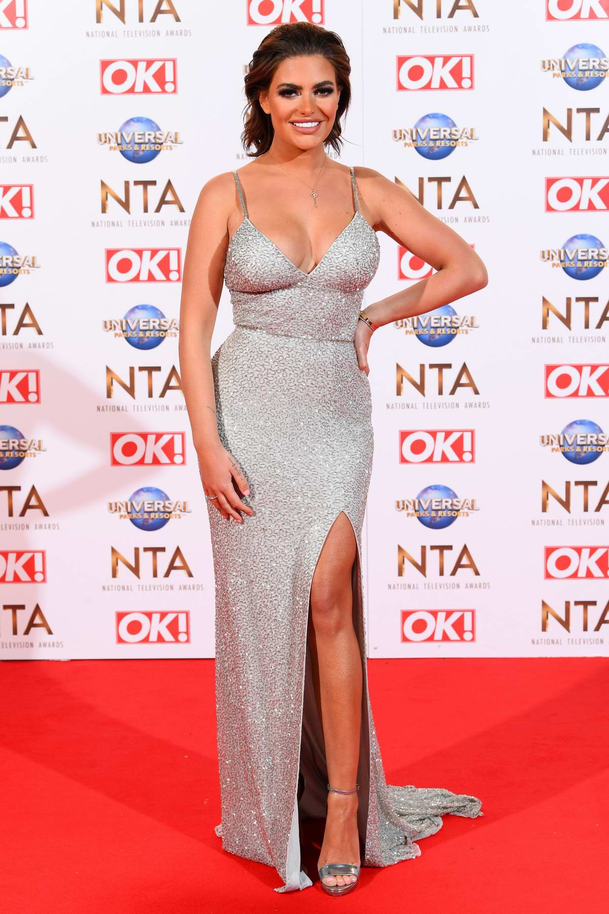Megan Barton-Hanson attends the National Television Awards 2020 at The O2 Arena in London, UK
