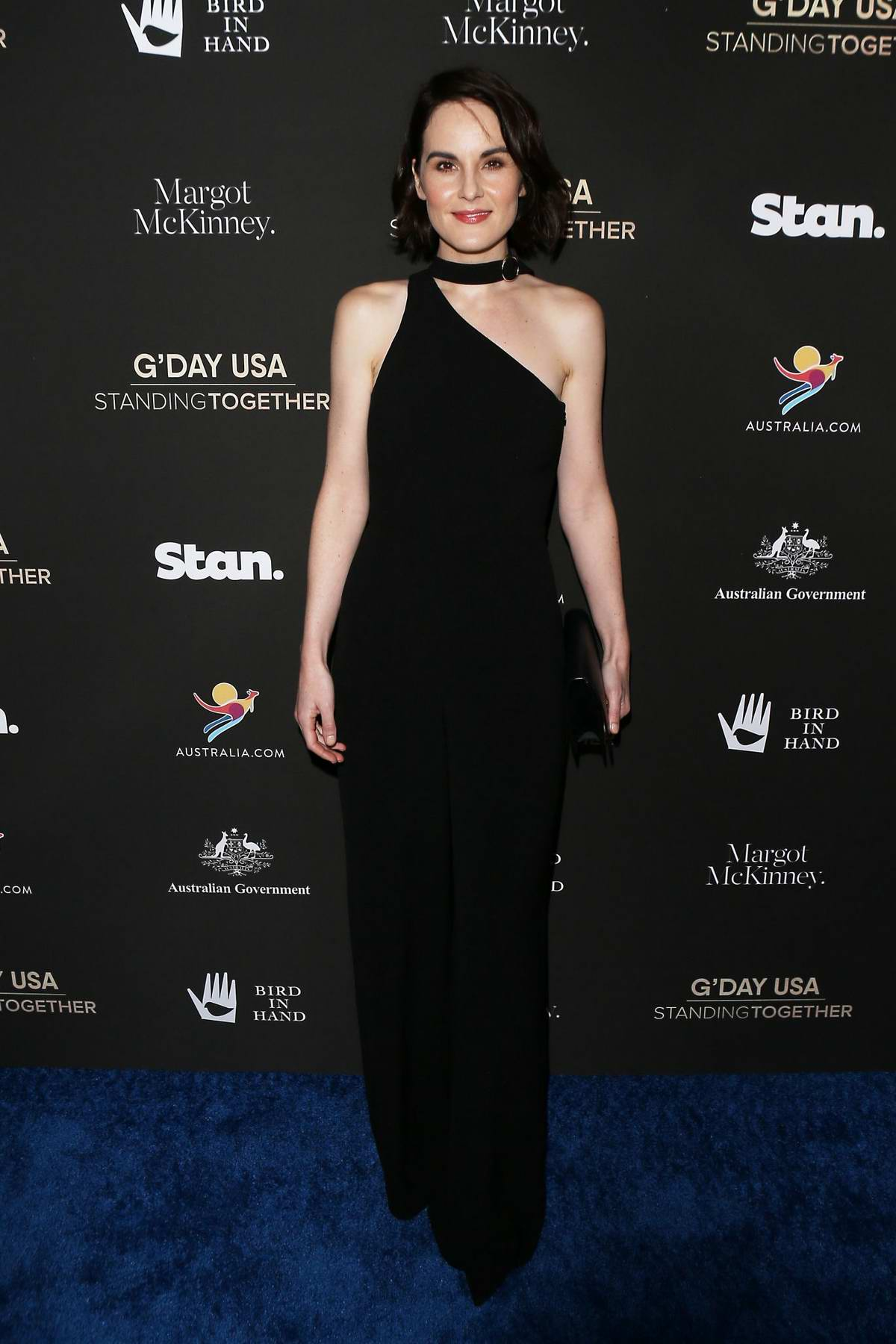 Michelle Dockery attends the G'Day USA 2020 in Beverly Hills, California