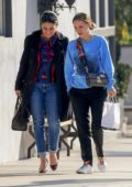 Natalie Portman leaves a lunch outing at Crossroads Kitchen restaurant in West Hollywood, California