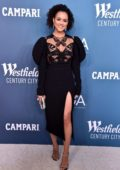 Nathalie Emmanuel attends the 22nd Costume Designers Guild Awards in Beverly Hills, California