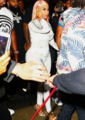 Nicki Minaj and husband Kenneth Petty arrive to Mr Jones in Miami, Florida