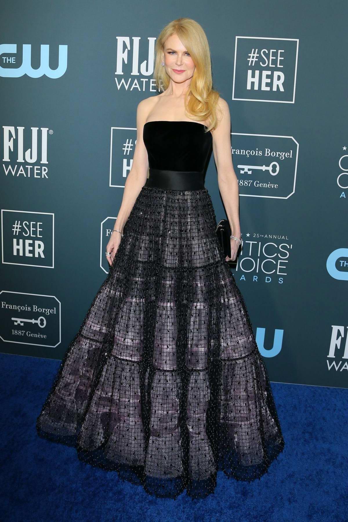 Nicole Kidman attends the 25th Annual Critics' Choice Awards at Barker Hangar in Santa Monica, California