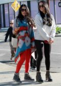 Nikki and Brie Bella leave Joan's on Third after grabbing breakfast together in Studio City, California