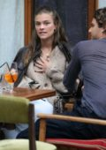 Nina Agdal and Jack Brinkley-Cook enjoy an Al fresco lunch in New York City