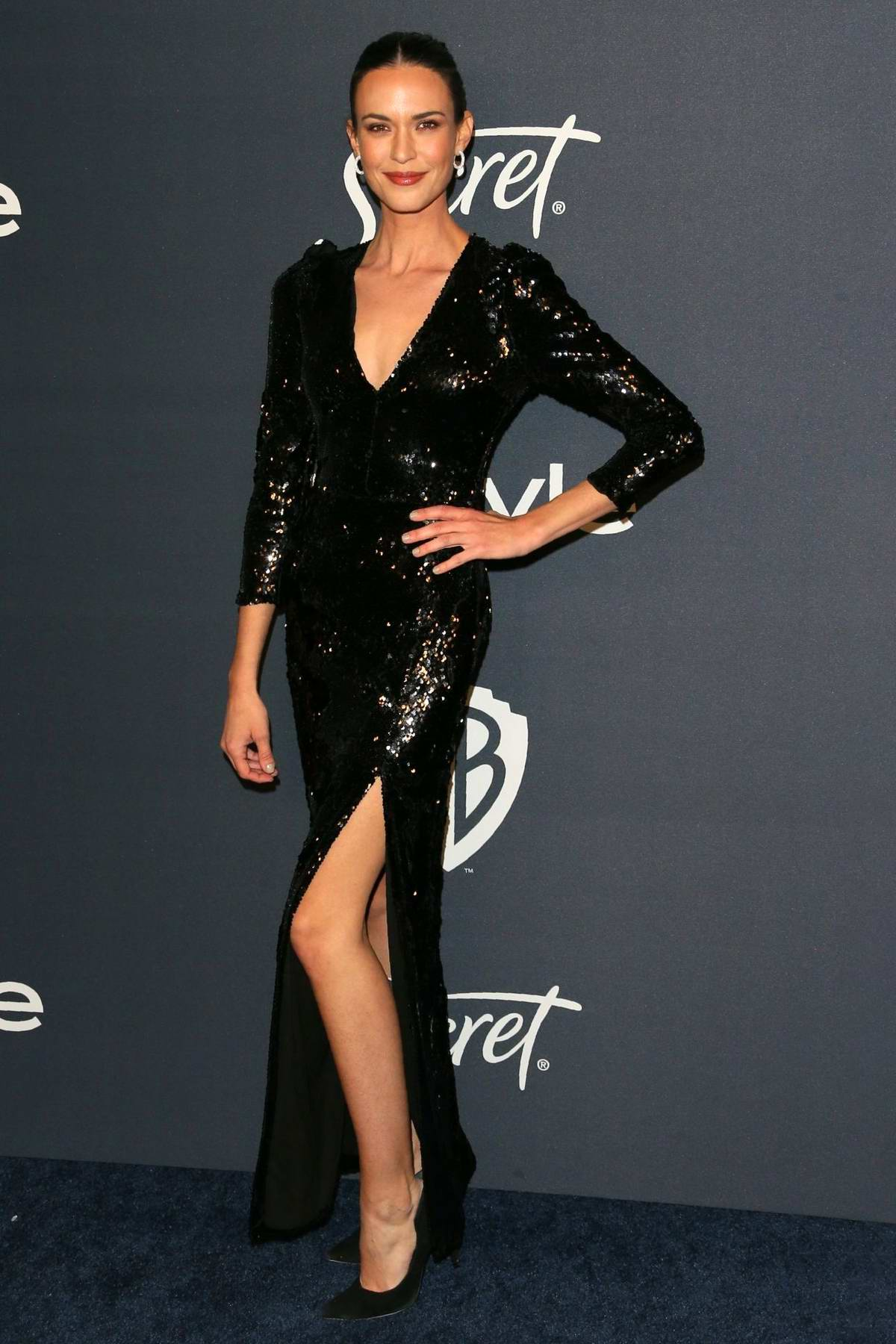 Odette Annable attends the 21st annual Warner Bros and InStyle Golden Globe After-Party in Beverly Hills, California