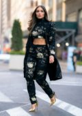 Olivia Culpo looks gorgeous in an August Getty ensemble and Christian Louboutin heels as she steps out in New York City