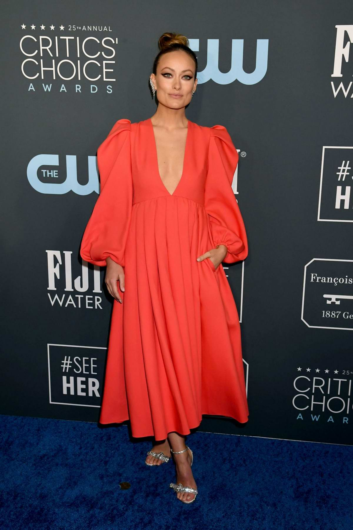 Olivia Wilde attends the 25th Annual Critics' Choice Awards at Barker Hangar in Santa Monica, California