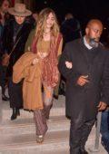 Paris Jackson seen leaving the Jean Paul Gaultier show in Paris, France