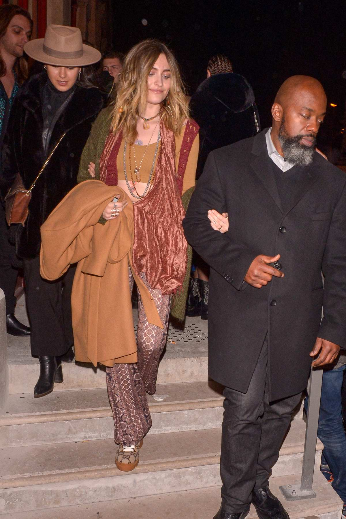 Paris Jackson seen leaving the Jean Paul Gaultier show in Paris, France