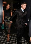 Priyanka Chopra and Nick Jonas seen as they leave after dinner at Craig's in West Hollywood, California