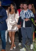 Priyanka Chopra and Nick Jonas step out for dinner right after landing in Miami, Florida