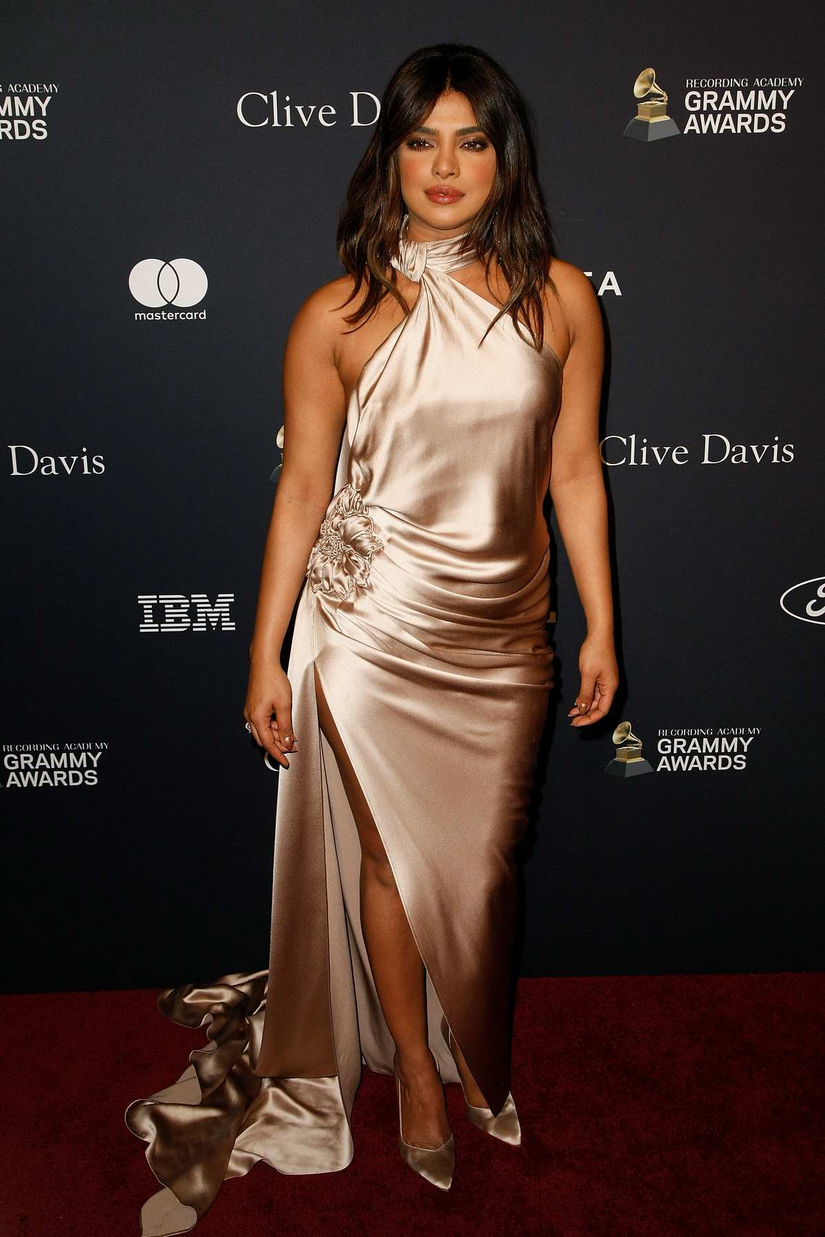 Priyanka Chopra attends the Recording Academy and Clive Davis Pre-Grammy Gala in Beverly Hills, California