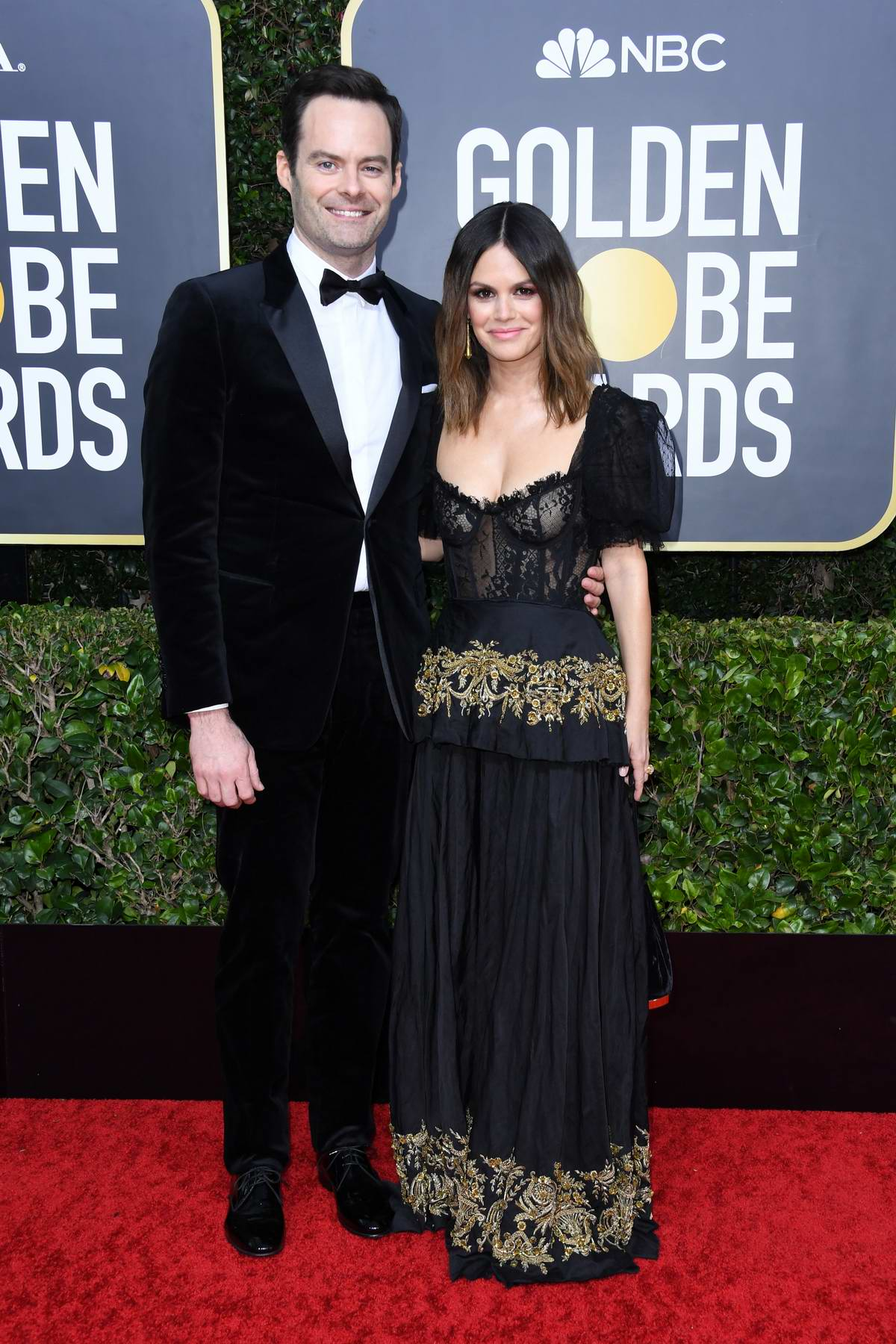 Rachel Bilson and Bill Hader attend the 77th Annual Golden Globe Awards at The Beverly Hilton Hotel in Beverly Hills, California