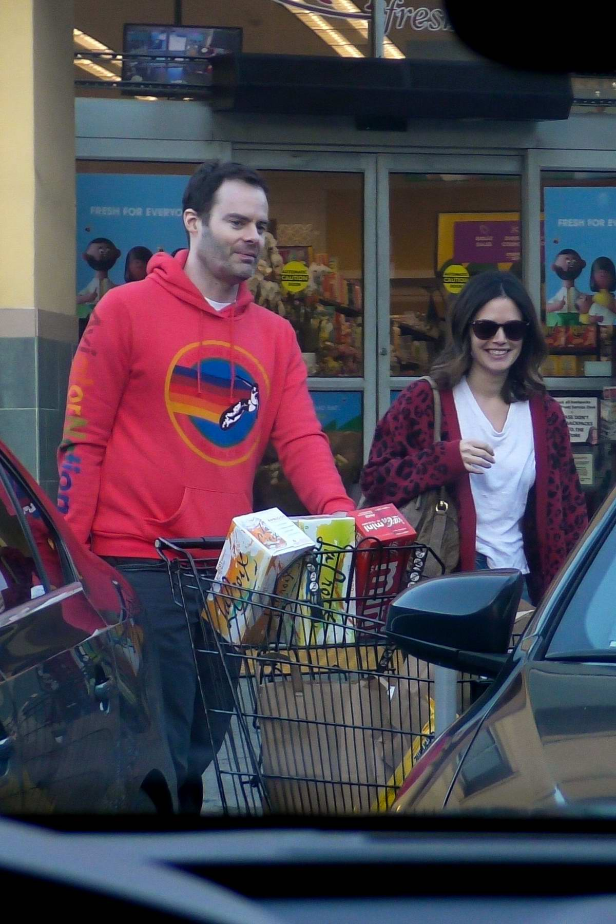 Rachel Bilson and Bill Hader spotted as they pick up some groceries in Los Angeles