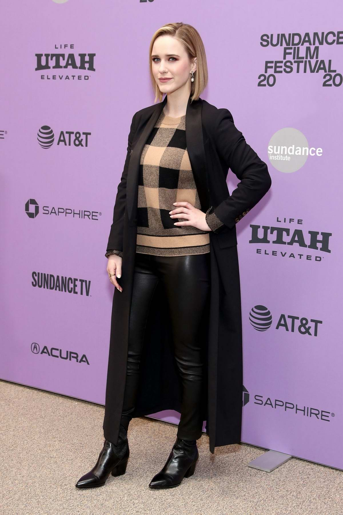 Rachel Brosnahan attends 'Ironbark' Premiere during the 2020 Sundance Film Festival in Park City, Utah