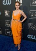 Rachel Brosnahan attends the 25th Annual Critics' Choice Awards at Barker Hangar in Santa Monica, California