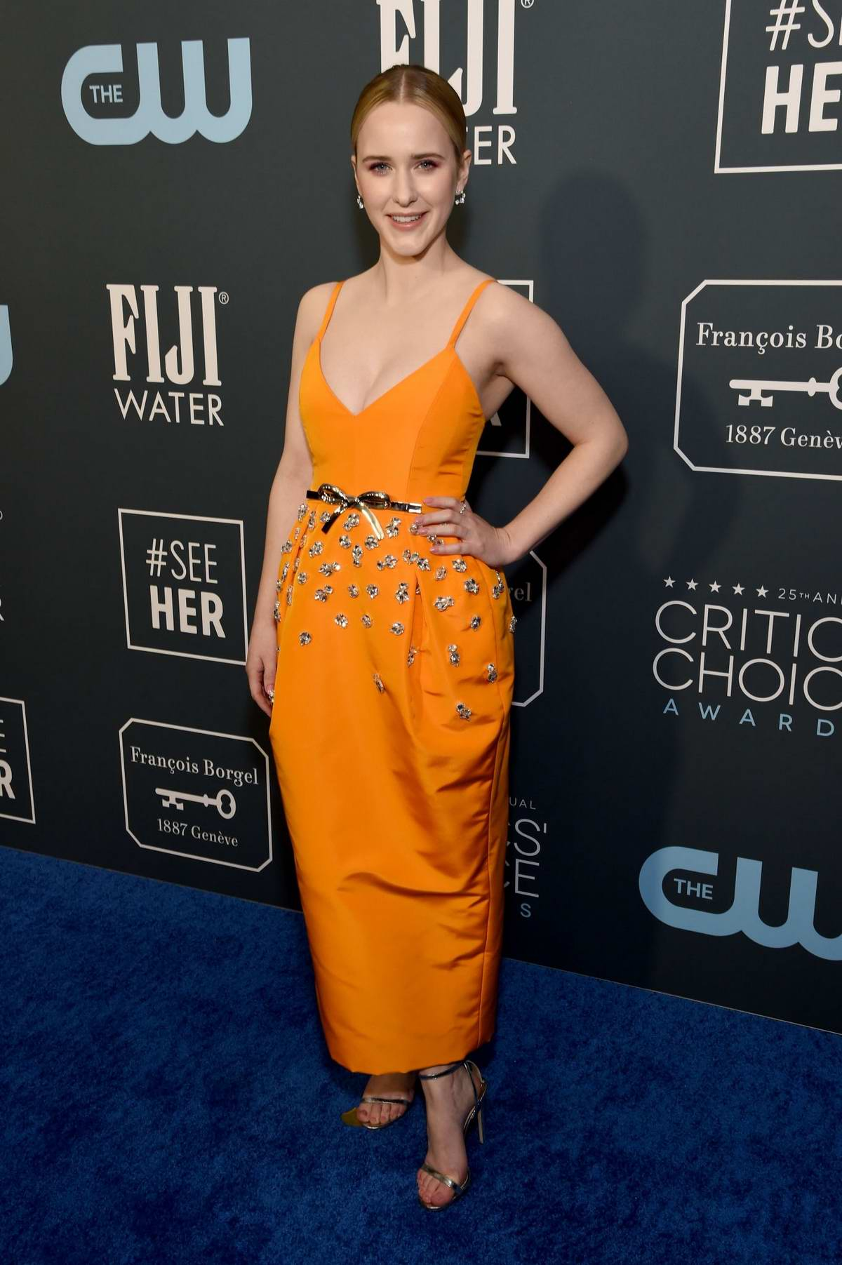 Rachel Brosnahan attends the 25th Annual Critics' Choice Awards at Barker Hangar in Santa Monica, California