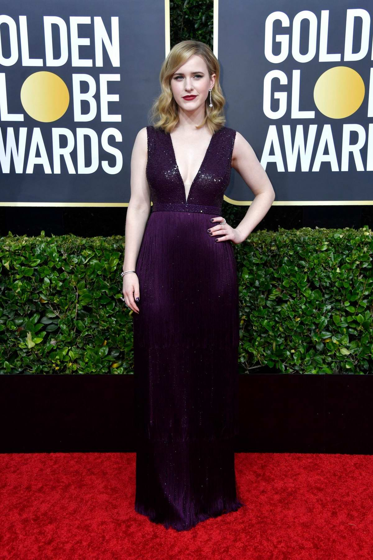 Rachel Brosnahan attends the 77th Annual Golden Globe Awards at The Beverly Hilton Hotel in Beverly Hills, California