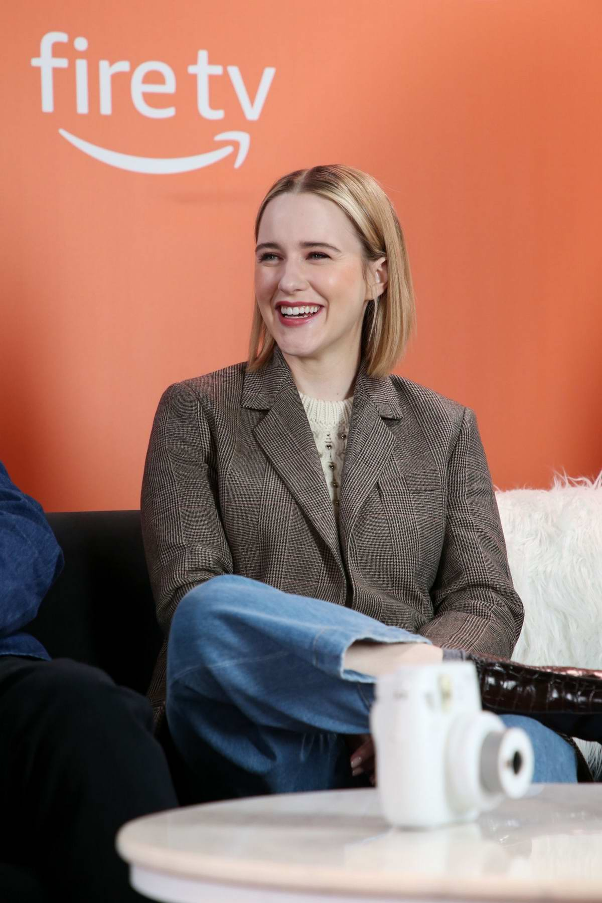 Rachel Brosnahan attends The Vulture Spot during the 2020 Sundance Film Festival in Park City, Utah