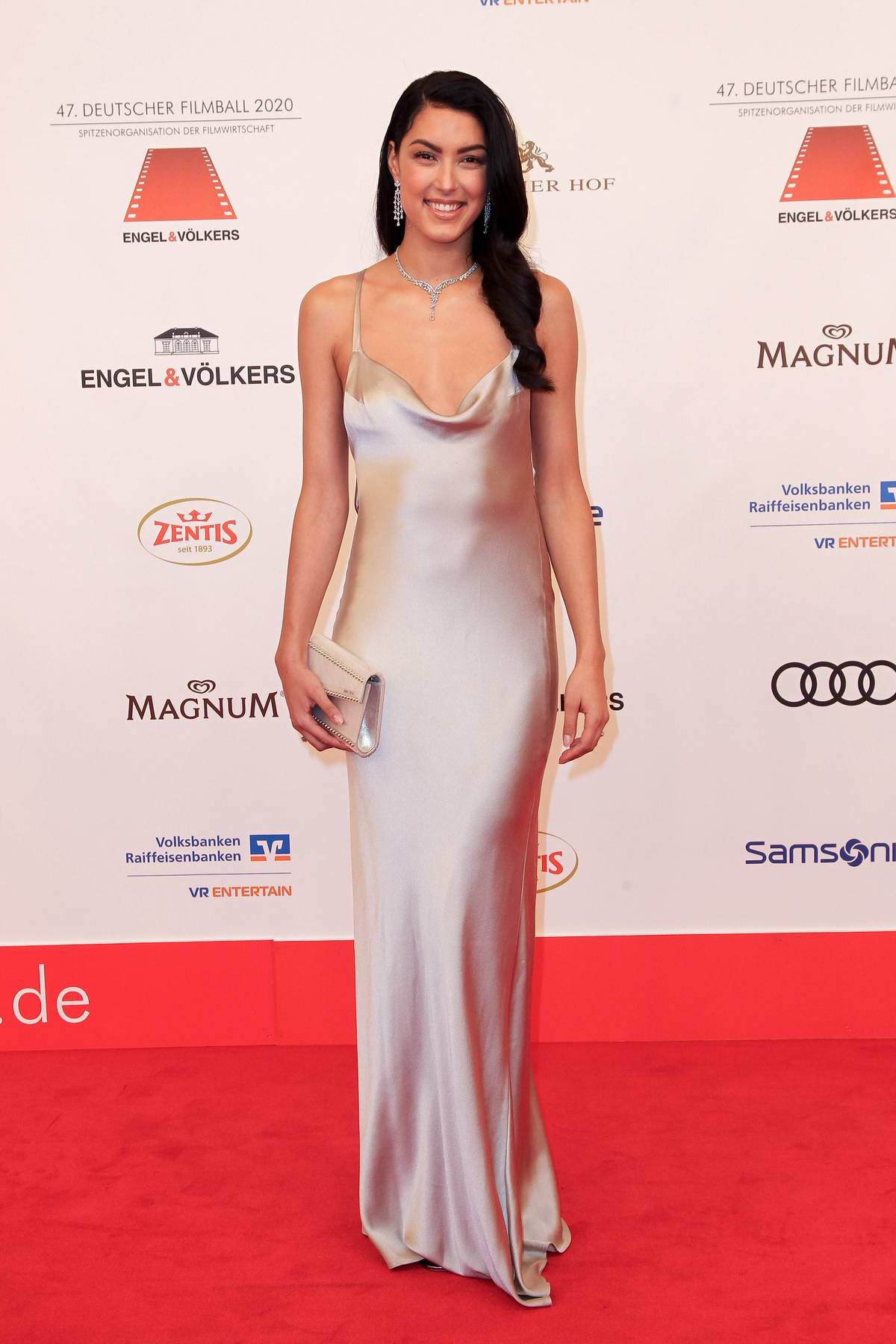 Rebecca Mir attends the 47th German Film Ball at the Hotel Bayerischer Hof in Munich, Germany