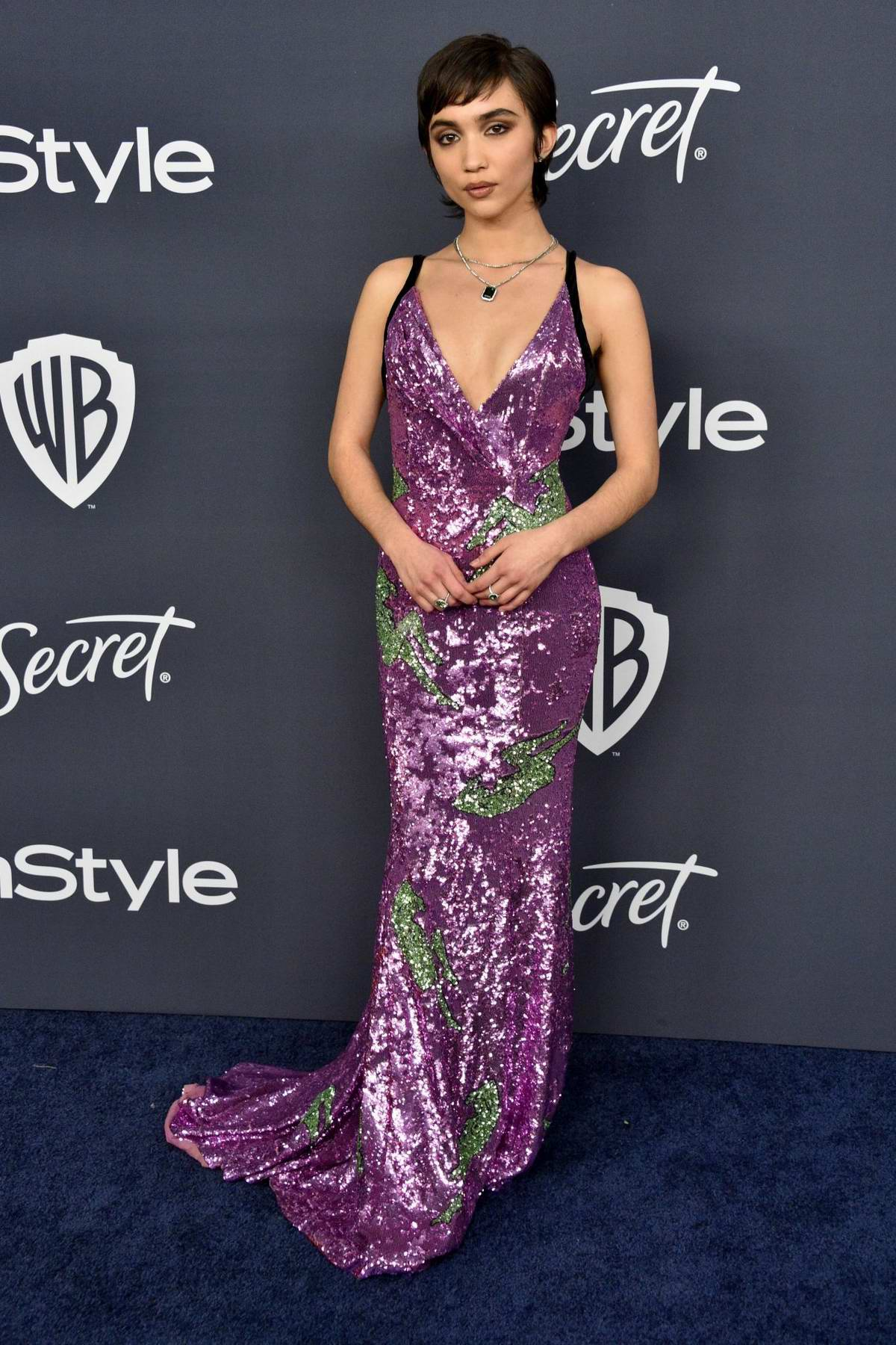 Rowan Blanchard attends the 21st annual Warner Bros and InStyle Golden Globe After-Party in Beverly Hills, California
