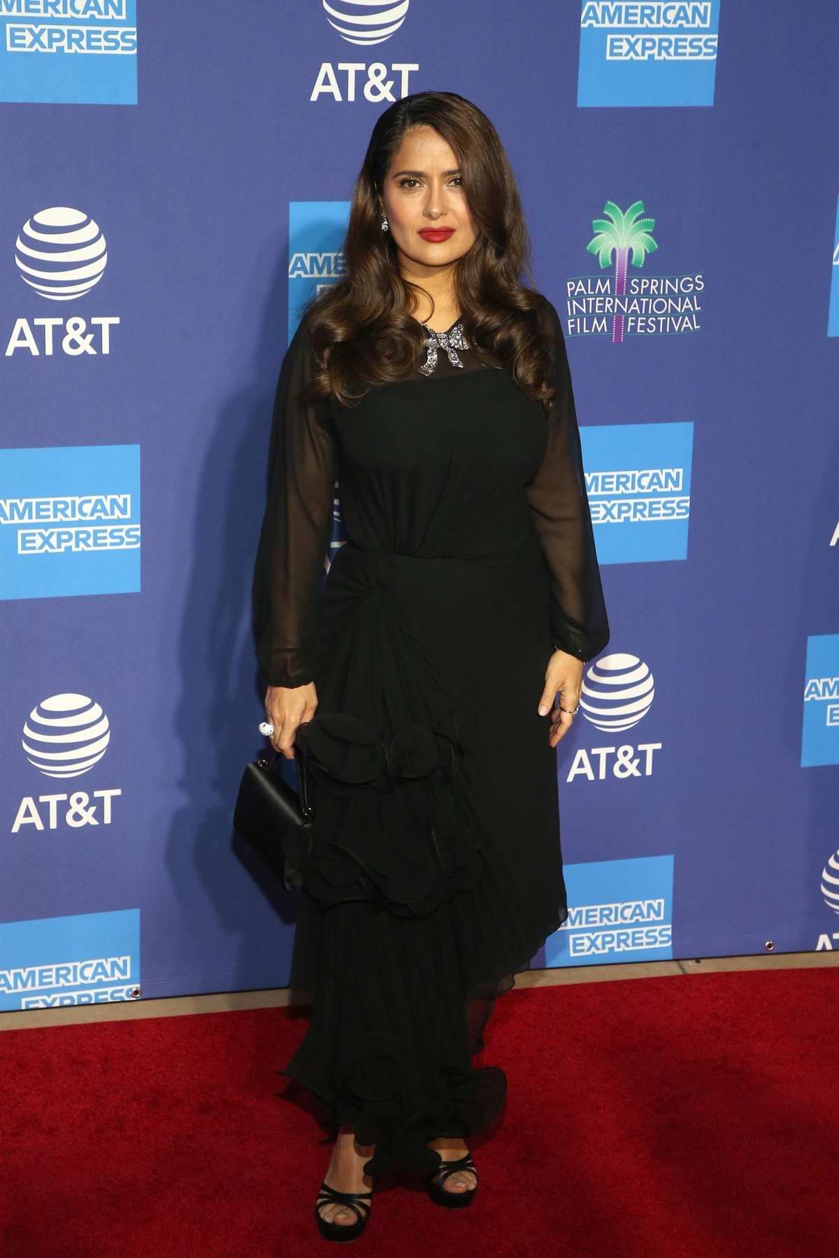 Salma Hayek attends the 31st Annual Palm Springs International Film Festival Gala in Palm Springs, California