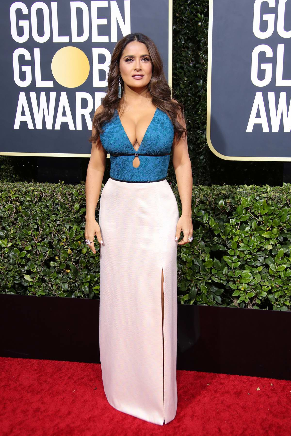 Salma Hayek attends the 77th Annual Golden Globe Awards at The Beverly Hilton Hotel in Beverly Hills, California