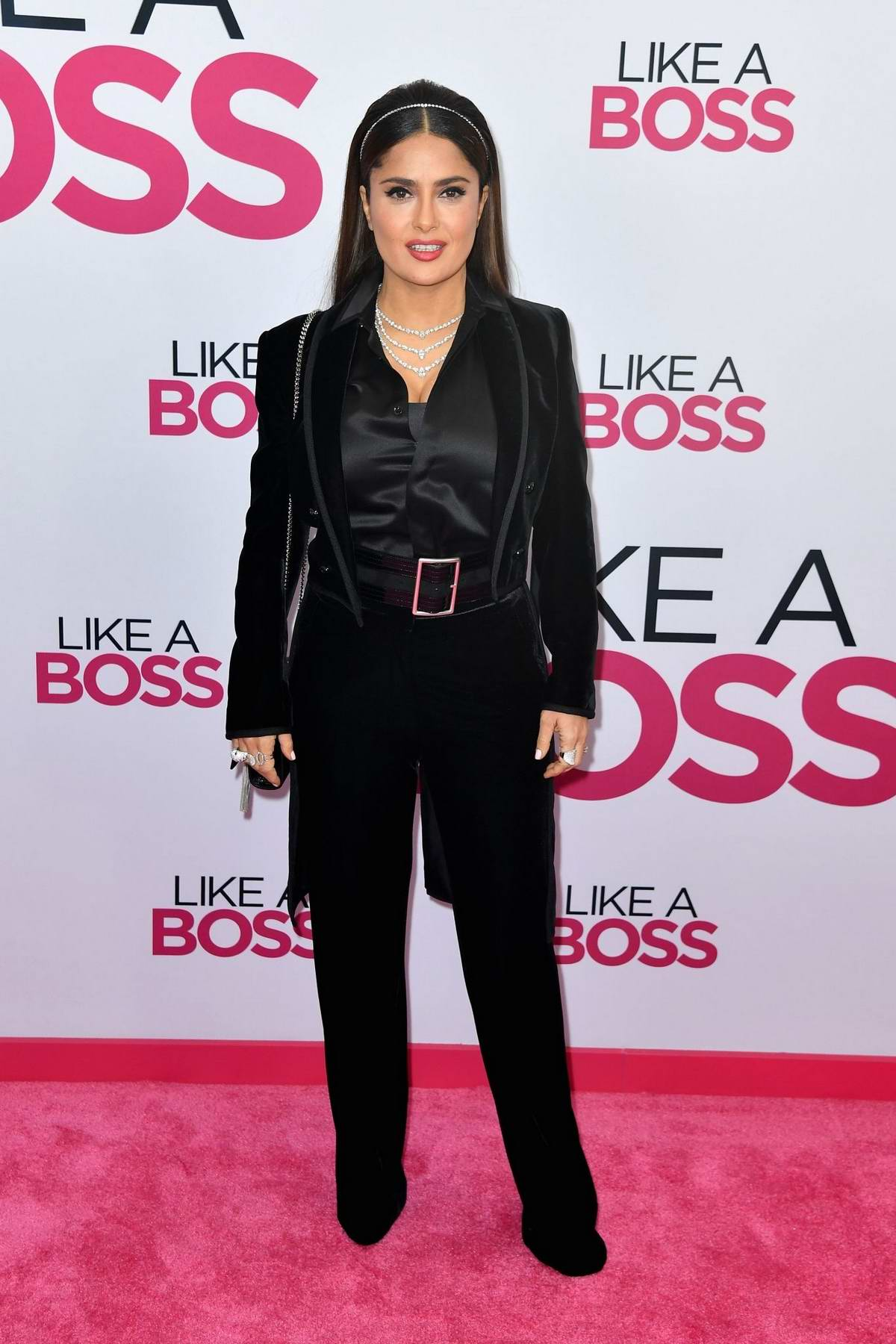 Salma Hayek attends the World Premiere of 'Like A Boss' in New York City