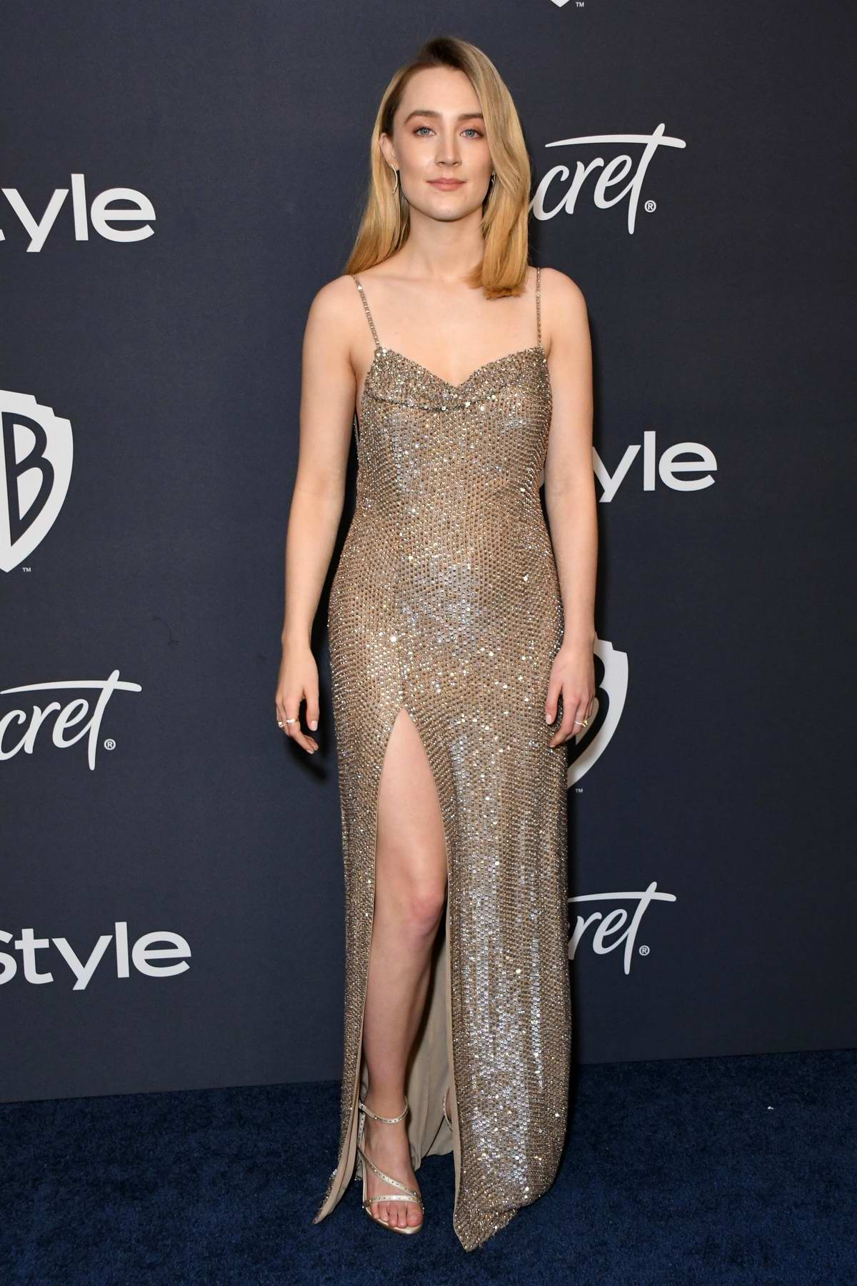 Saoirse Ronan attends the 21st annual Warner Bros and InStyle Golden Globe After-Party in Beverly Hills, California
