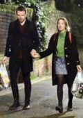 Saoirse Ronan steps out for an evening stroll while holding hands with Scottish actor Jack Lowden in London, UK