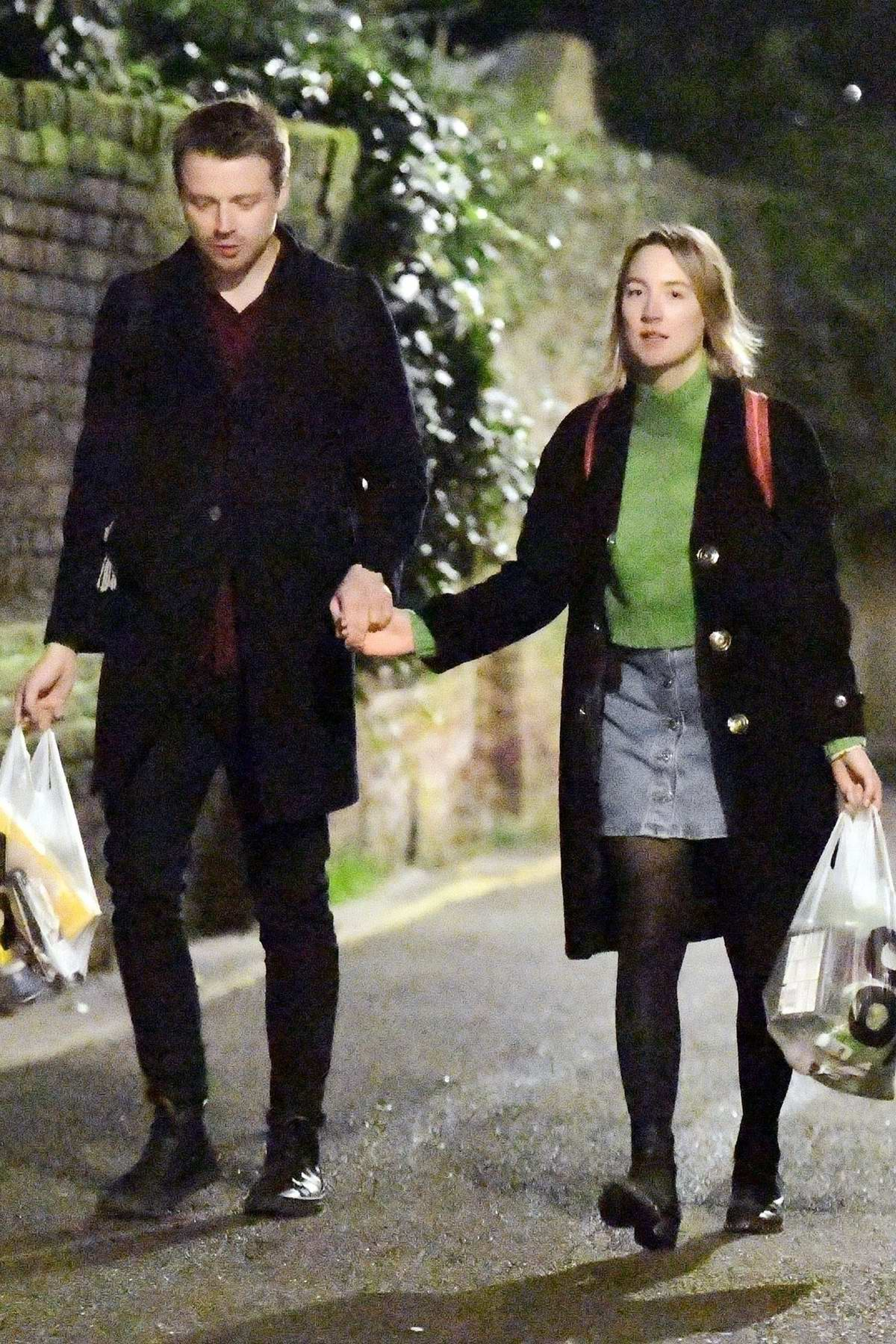 Saoirse Ronan Steps Out For An Evening Stroll While Holding Hands With Scottish Actor Jack Lowden