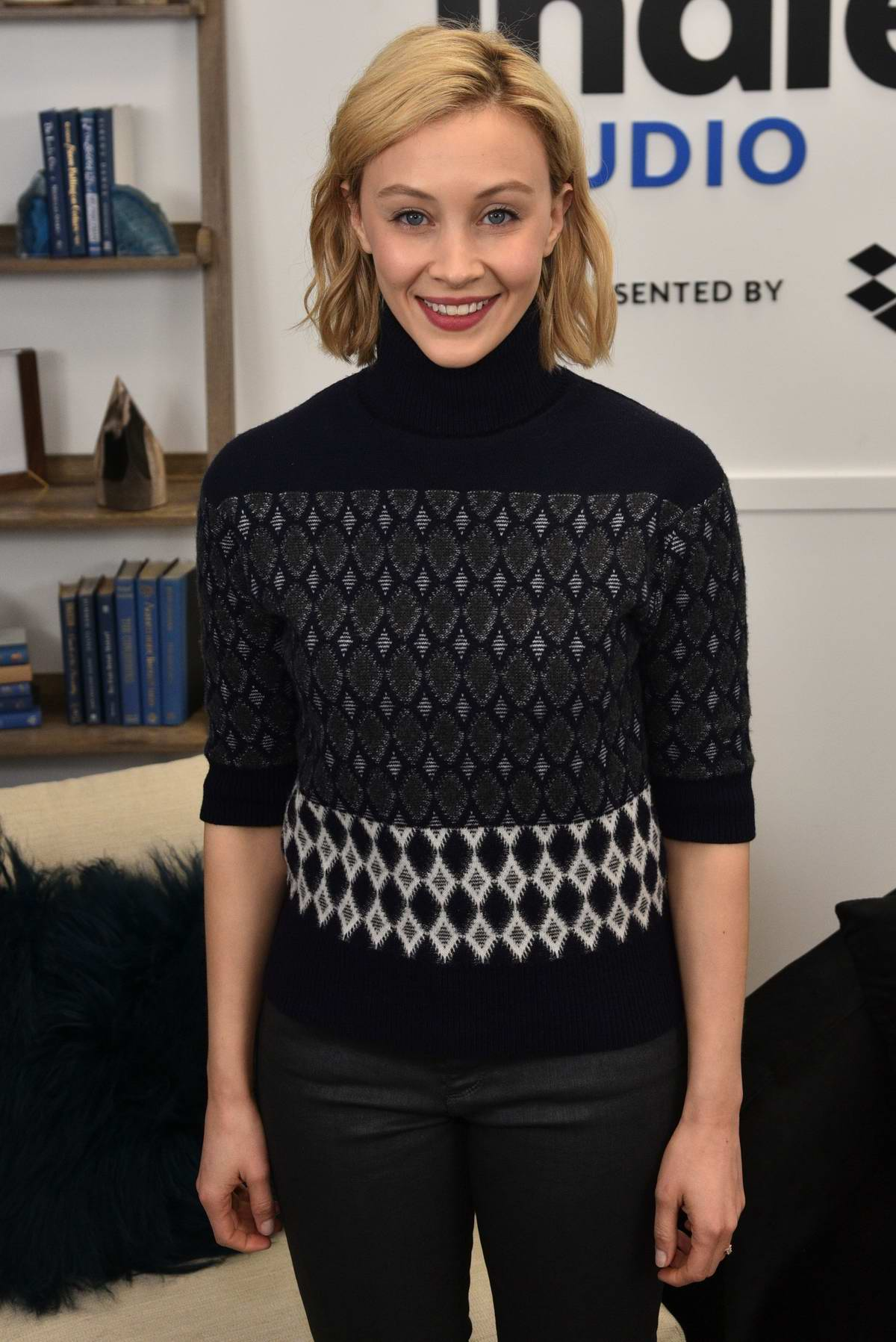Sarah Gadon attends the IndieWire Sundance Studio presented by Dropbox at Sundance Film Festival 2020 in Park City, Utah