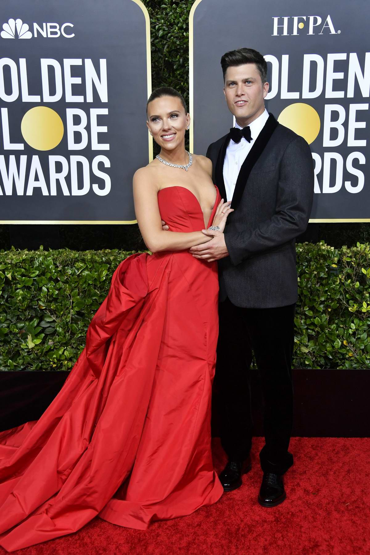 Scarlett Johansson attends the 77th Annual Golden Globe Awards at The Beverly Hilton Hotel in Beverly Hills, California