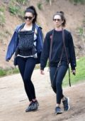 Shay Mitchell steps out for a hike with her baby and Troian Bellisario in Los Feliz, California
