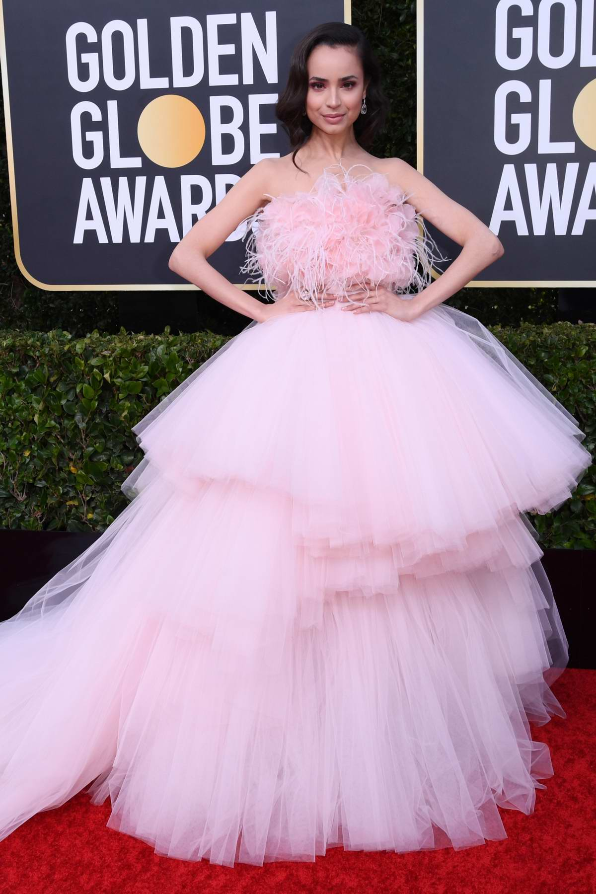Sofia Carson attends the 77th Annual Golden Globe Awards at The Beverly Hilton Hotel in Beverly Hills, California